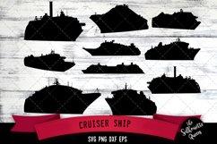 Cruiser Ship svg file, boat svg cut file, silhouette studio Product Image 1