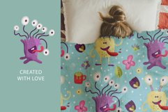 Cute Monster Seamless Pattern Set. Product Image 3