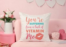 Funny Valentines Quote SVG Cut File | Red Lips SVG | Kiss Product Image 4