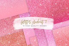 Pastel blush pink ombre paper, pastel pink glitter paper, rose gold paper, Glitter gradient paper, Rainbow glitter digital paper ombre, Product Image 1