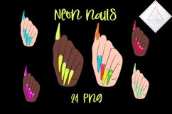 Neon Nails Clipart Product Image 1