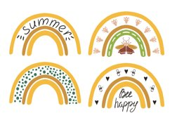 Rainbow clipart BEES and BOTANICALS Product Image 6