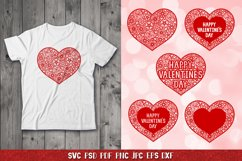 Heart SVG,Happy Valentines Day,Floral Heart,Heart Papercut Product Image 3