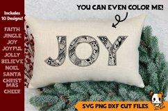 Christmas Bundle | Zentangle SVG Christmas Words Product Image 1