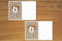 Wedding cards 3 SVG files for Silhouette and Cricut. Product Image 2
