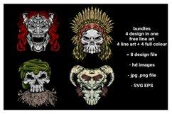 skull vector design Product Image 1