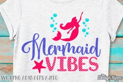 Mermaid Vibes SVG, Mermaid Scales, Beach Vibes SVG, PNG DXF Product Image 1