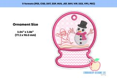 Snowman and santa in Snowglobe ITH Ornament Product Image 2