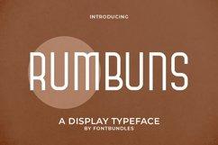 Web Font Rumbuns Product Image 1
