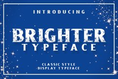 Brighter Typeface Product Image 1