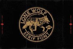 LONE WOLF Serif font Product Image 6