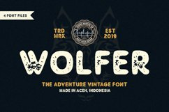 Wolfer | The Adventure Vintage Font Product Image 1