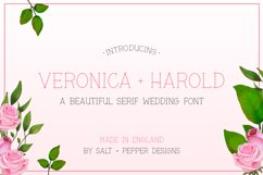 Veronica and Harold Font - Wedding Fonts Product Image 1