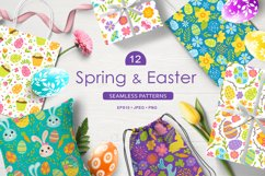 12 Spring and Easter seamless patterns Product Image 1