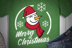 Merry Christmas SVG, Snowman SVG, Winter SVG, Carrots Product Image 2