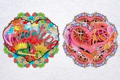 Hearts zentangle Product Image 6