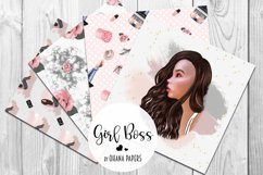 GIRL BOSS Digital Paper Pack - Fashion Illustration Patterns Product Image 2