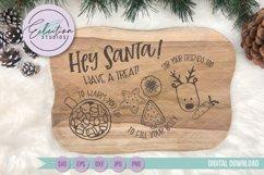 Christmas Hey Santa Cookies for Santa Tray SVG Product Image 1