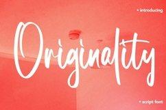 Web Font Originality - Script Font Product Image 1