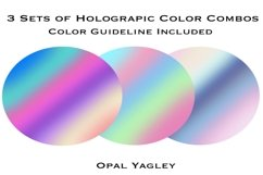 Holographic Procreate Color Palette with Color Guideline Product Image 2
