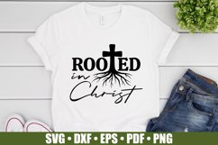 Rooted In Christ SVG files for Cricut | Bible Verse SVG Product Image 3