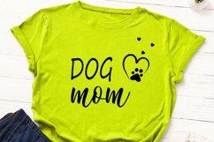 Dog mom cut file, dog mama svg, dog paw print svg, dog lover Product Image 5