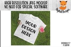 Girly Spring T-Shirt Mock Up Mockup Product Image 1