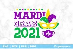 Mardi Gras 2021 SVG File Product Image 1