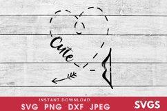 Kids valentines svg | cute heart svg | Cupid arrow svg Product Image 2