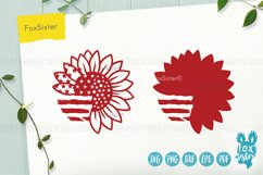 Sunflower svg, Patriotic Sunflower Svg, USA Flag Svg Product Image 2