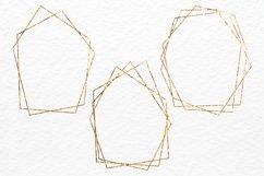 Gold polygonal frames Golden foil frames card design Product Image 3