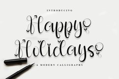 Happy Holiday - A Modern Calligraphy Font Product Image 1