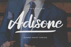 Adisone | Elegant Script Typeface Product Image 1