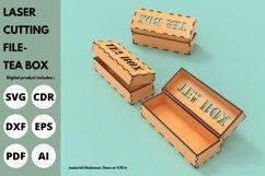 Tea Box - SVG - Laser cutting file Product Image 1