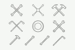 Mechanic and Car Repair Emblems Bundle Product Image 3
