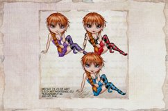Michi 21 Cutie Girl Art, Sublimation Product Image 1