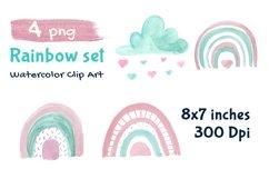 Rainbow Illustration Boho Clip Art Product Image 2