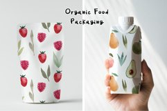 Watercolor Fruits. Patterns, Clipart Product Image 5