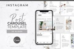 Instagram Post Carousel for Canva   Slideshow   White Linen Product Image 1