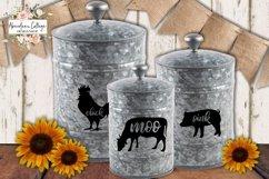 Moo Cluck Oink Farm Animal Trio SVG's   Farmhouse SVG Product Image 6