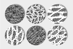 Black and white seamless patterns set Product Image 2