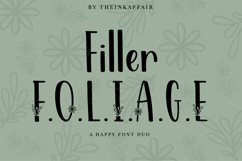 Filler Foliage - A Happy Christmas Font Duo Product Image 1