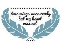 Your wings were ready svg, your wings were ready but our hearts were not svg, your wings were ready but my heart was not svg, svg files, svg Product Image 2
