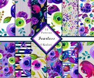 Watercolor Floral Seamless Patterns Product Image 1