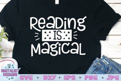 Teacher SVG   Reading is Magical SVG Product Image 1