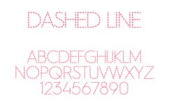 Dashed Line Font Product Image 1