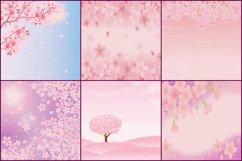 Sakura Japanese Cherry Blossom Digital Papers Product Image 3