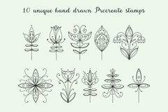 Modern Folk Art Flowers Procreate Stamp Brushes Product Image 2