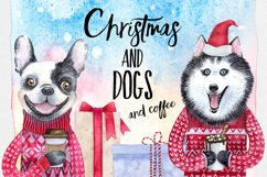 CHRISTMAS AND DOGS watercolor set Product Image 1