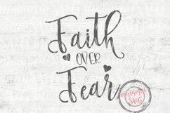 Faith Over Fear Svg Cutting Files Product Image 1